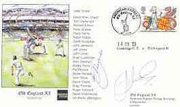 Great Britain 1998 Old England XI (v Cowbridge CC) Illustrated Cover With Special 'Cricket' Cancel, Signed By Jeff Jones - 1991-2000 Dezimalausgaben