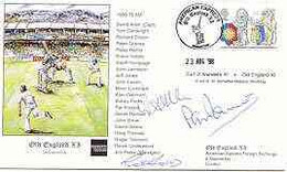 Great Britain 1998 Old England XI (v Earl Of Arundel's XI) Illustrated Cover With Special 'Cricket' Cancel, Signed By Da - 1991-2000 Dezimalausgaben