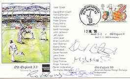 Great Britain 1998 Old England XI (v Neath CC) Illustrated Cover With Special 'Cricket' Cancel, Signed By David Steele, - 1991-2000 Dezimalausgaben