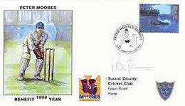 Great Britain 1998 Peter Moores Benefit Illustrated Cover With Special 'Cricket' Cancel, Signed By Peter Moores - 1991-2000 Dezimalausgaben