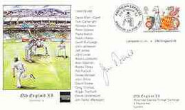 Great Britain 1999 Old England XI (v Lampeter CC) Illustrated Cover With Special 'Cricket' Cancel, Signed By Jim Parks ( - 1991-2000 Dezimalausgaben