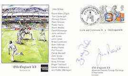 Great Britain 1999 Old England XI (v Lords & Commons XI) Illustrated Cover With Special 'Cricket' Cancel, Signed By Jim - 1991-2000 Dezimalausgaben