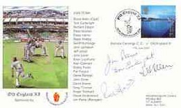 Great Britain 2000 Old England XI (v Bishops Cannings CC) Illustrated Cover With Special 'Cricket' Cancel, Signed By Tom - 1991-2000 Dezimalausgaben