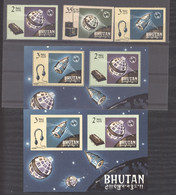 Bhoutan  :  Yv  60-62 +  Blocs 4-4a  ** - Bhutan