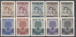 BOLIVIA 606-615,unused - Bolivien
