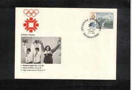 Jugoslawien / Yugoslavia 1984 Olympic Games Sarajevo - Olympic Medals Women Downhill Skiing Interesting Cover - Invierno 1984: Sarajevo