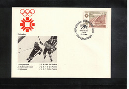 Jugoslawien / Yugoslavia 1984 Olympic Games Sarajevo - Olympic Medals Ice Hockey Interesting Cover - Invierno 1984: Sarajevo