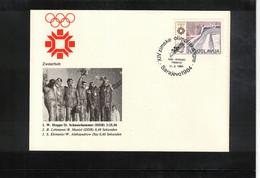 Jugoslawien / Yugoslavia 1984 Olympic Games Sarajevo - Olympic Medals Bob Two-seater Interesting Cover - Invierno 1984: Sarajevo