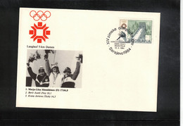 Jugoslawien / Yugoslavia 1984 Olympic Games Sarajevo - Olympic Medals Cross Country Skiing Interesting Cover - Invierno 1984: Sarajevo