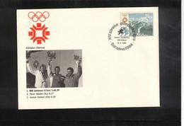 Jugoslawien / Yugoslavia 1984 Olympic Games Sarajevo - Olympic Medals Downhill Skiing Men Interesting Cover - Invierno 1984: Sarajevo