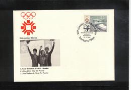 Jugoslawien / Yugoslavia 1984 Olympic Games Sarajevo - Olympic Medals Figure Skating Men Interesting Cover - Invierno 1984: Sarajevo