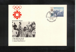 Jugoslawien / Yugoslavia 1984 Olympic Games Sarajevo - Olympic Medals Giant Slalom Men Interesting Cover - Invierno 1984: Sarajevo
