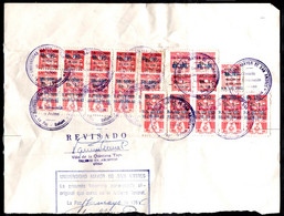 Bolivia 1985 Large Fragment (half Sheet) 20 Stamps Type XB2 TWO HUNDRED THOUSAND BOLIVIAN PESOS: Hyperinflation. - Bolivien