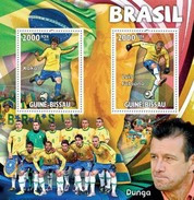 GUINE BISSAU 2010 SHEET TEAM BRAZIL FOOTBALL SOCCER FUTBOL SPORTS DEPORTES Gb10315a - Guinea-Bissau