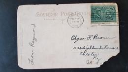 Niagara River Line Steamer Near Lewiston - Sent To Chester Pennsylvania USA - IIIe Centenaire De Quebec Stamp - Used Stamps