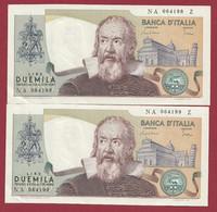 Italie 2000 Lire 1983 (SUITE DE 2 BILLETS ----UNC) - 2000 Lire