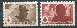 Hongrie YT N°649-650 Croix-Rouge Neuf ** - Ungebraucht