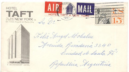 United States 1961, Airmail Sent From New York To Santa Fe, Argentina. Cap1 - Covers & Documents