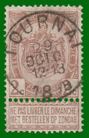 """COB 55 - Très Belle Oblitération """"TOURNAI"""" - 1893-1900 Fine Barbe"""