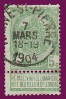 """COB 56 - Belle Oblitération """"HAINE St-PIERRE"""" - 1893-1900 Fine Barbe"""