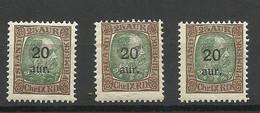 ISLAND 1921 Michel 106, 3 Exemplares, MNH - Unused Stamps