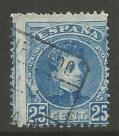 SPAIN. 1900. 25c PERF SHIFT. USED. - Used Stamps