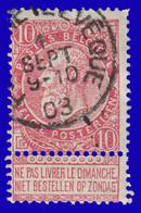 """COB 58 - Oblitération """"FONTAINE L'EVEQUE"""" - 1893-1900 Fine Barbe"""