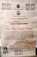 Bolivia 1960. Diploma In Economic Sciences, Oruro Technical University, 40 H&A XB4 Stamps. Inflation. - Bolivien