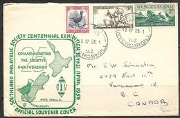 NZ  1956   Sc#313-5  Set On Souvenir Cover - Covers & Documents