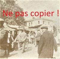PETITE PHOTO FRANÇAISE - CIVILS DANS UNE RUE DE SALONIQUE - THESSALONIQUE Θεσσαλονίκη - GRECE  GUERRE 1914 1918 - 1914-18