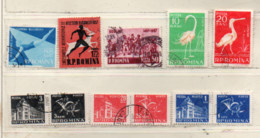 Rumänien 1957 Siehe Bild/Beschreibung 11 Marken Gestempelt; Romania Used - Usado