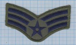 USA / Patch Abzeichen Parche Ecusson / United States Military Air Force Insignia, Senior Airman Rank. - Ecussons Tissu