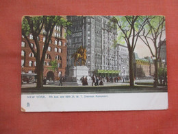 Tuck Series.  5 Th Ave & 59 Th Street. Sherman Monument .    New York > New York City       Ref 5221 - Non Classés