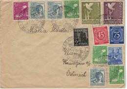 Bad Kissingen 2.7.1948 Zehnerfrankatur - Säer Pflanzer Ernte Vogel Friedenstaube - Thermalisme