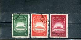 Chine 1956 Yt 1087-1089 8e Congrès Du Parti - Gebraucht