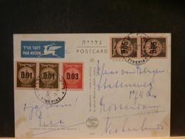 95/697   CP ISRAEL POUR NEDERLAND - Briefe U. Dokumente