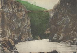 EQUATEUR ECUADOR PUENTE SOBRE EL RIO PASTAZA BANOS AMBATO 1909 - Equateur