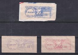 Etats Unis - 2 Vignettes D'affranchissement De 1947 Et 1 Vignette De 1963 - Milwaukie, New York Et Greenfeld - Unused Stamps
