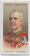 CT 3 - 28 UNITED KINGDOM, Gen. Sir F. Reginald Wingate, Allied Army Leader - Old Wills's Cigarettes - 68/35 Mm - Wills