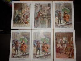 """Lot De 6 Fiches Cartonnées Illustrées   """"Le Bon Marché""""    (13 X 19 Cms) - Andere"""