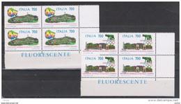 REPUBBLICA:  1987  OLYMPHILEX  -  S. CPL. 2  VAL. BL. 4  N. -  SASS.  1808/09 - Blokken & Velletjes