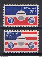 U.S.A.:  1976  P.A.  AEREO  -  S. CPL. 2  VAL. N. -  YV/TELL. 83/84 - 3b. 1961-... Unused
