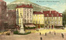 8634 Cpa 12 Millau - Place Du Mandaroux - Millau