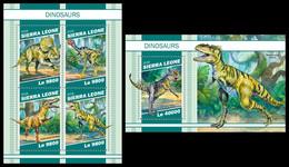 SIERRA LEONE 2018 - Dinosaurs - YT 8526-9 + BF1588, CV=39 € [SRL181104] - Preistorici