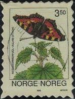 Norvège Timbre Fictif Autocollant Papillon Aglais Urticae Petite Tortue Scrapbooking - Scrapbooking