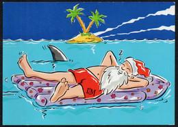 C2696 - Glückwunschkarte Weihnachten Weihnachtsmann Santa Claus - Werbekarte L&M - Humor
