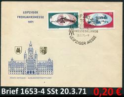 DDR 1971 - Germany EAST 1971 - Michel 1653-1654 Auf Brief / Sur Lettre Mit / Avec SSt 20.3.71 - Briefe U. Dokumente