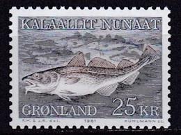 GL28- GREENLAND – 1981 – ATLANTIC COD – SG # 130 MNH 11,75 € - Ungebraucht