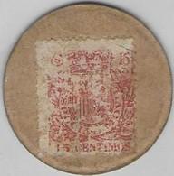 3 Timbres Monnaies - 3 Jetons Avec Blasons Imprimés D'un Coté Et T.P. Collé Dans L'autre à 5, 15 Et 25 Centimes  (carton - Other