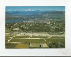 GENEVE 12894  VUE AERIENNE L'AEROPORT LA VILLE ET LE MONT BLANC - Aeródromos